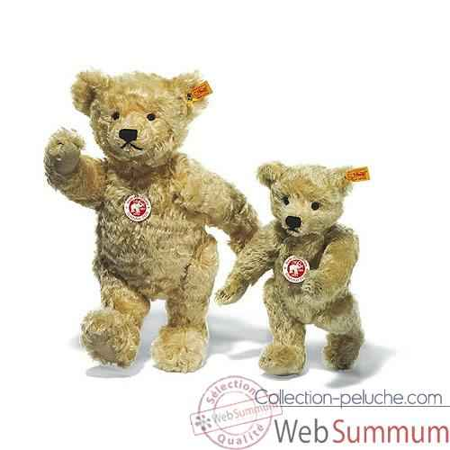 Video Peluche Steiff Ours Teddy 1920 mohair blond clair -st000645