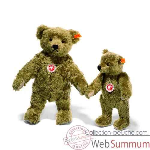 Video Peluche Steiff Ours Teddy 1920 mohair brun clair -st000713