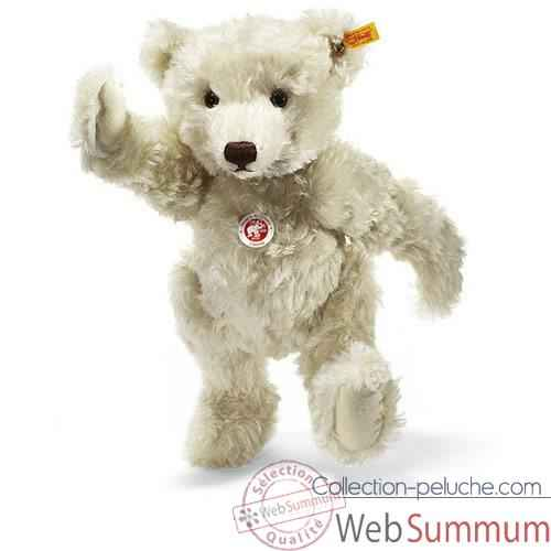 Video Peluche Steiff Ours Teddy mohair blanc -st004995