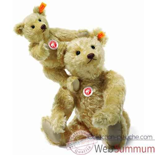 Video Peluche Steiff Ours Teddy mohair blond clair -st004230