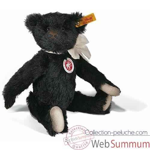 Video Peluche Steiff Ours Teddy mohair noir -st000584