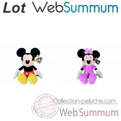 2 peluches Disney collection Mickey et Minnie 61cm -LWS-306