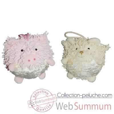 Video Les Petites Marie - Collection Boule, Lot de 2 boules Cochon et Mouton