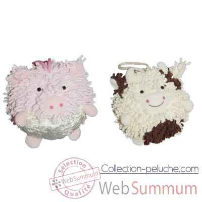 Video Les Petites Marie - Collection Boule, Lot de 2 boules Cochon et Vache