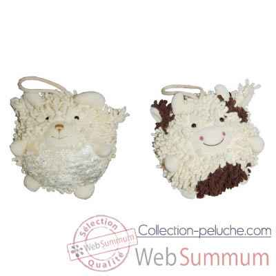 Video Les Petites Marie - Collection Boule, Lot de 2 boules Mouton et Vache