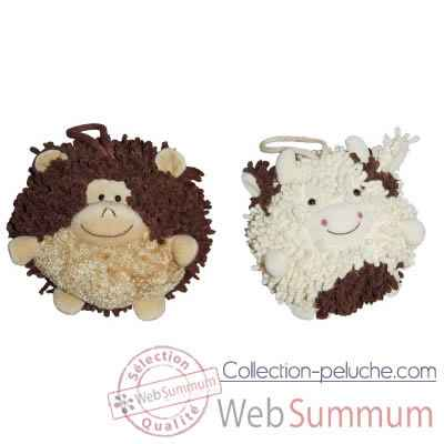 Video Les Petites Marie - Collection Boule, Lot de 2 boules Singe et Vache