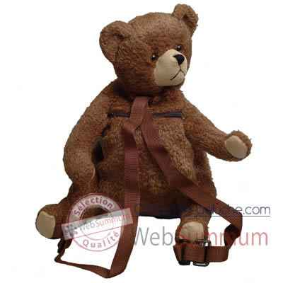 Les Petites Marie-Peluche retro, sac a dos ours Charly