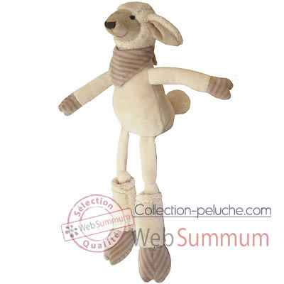Les Petites Marie - Peluche collection ferme, Simon le mouton