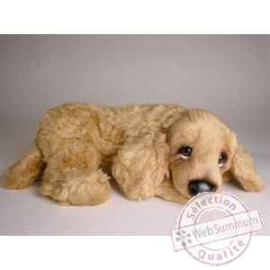 Peluche allongee cocker 45 cm Piutre -3203