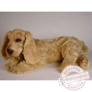 Peluche allongee cocker 65 cm Piutre -3204