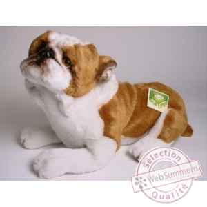 Peluche allongee english bull-dog 42 cm Piutre -2272
