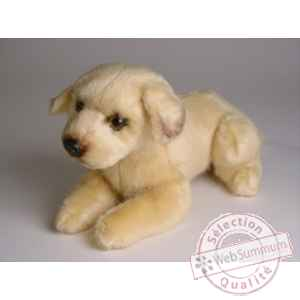 Peluche allongee Grand Danois 25 cm Piutre -3307
