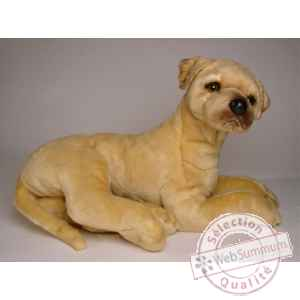 Peluche allongee Grand Danois 45 cm Piutre -3303