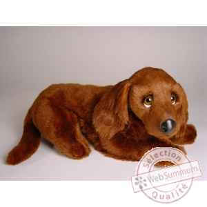 Peluche allongee irish setter 40 cm Piutre -3225