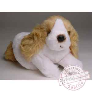 Peluche allongee mascot cocker 20 cm Piutre -4244