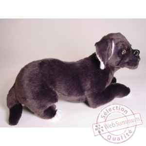 Peluche allongee mastiff napolitain 45 cm Piutre -1298