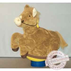 Peluche Magic cheval beige cm Piutre -G095