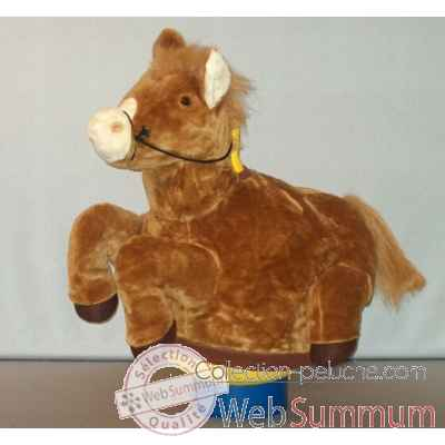 Peluche Magic cheval marron cm Piutre -G094