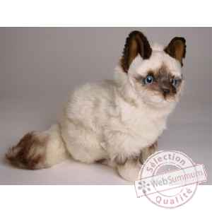 Peluche assise chat birman 30 cm Piutre -2313