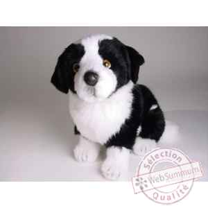 Peluche assise border collie 45 cm Piutre -1217