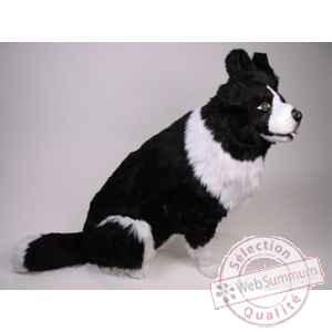 Peluche assise border collie 85 cm Piutre -1215