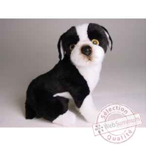 Peluche boston terrier assis 30 cm Piutre -4221