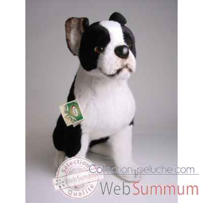 Peluche assise boston terrier 55 cm Piutre -4220