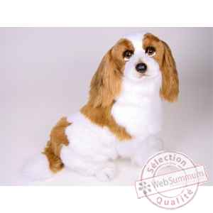 Peluche assise Epagneul cavalier king charles 55 cm Piutre -1290