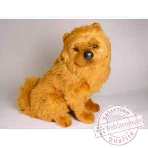 Peluche assise chow chow cannelle 50 cm Piutre -3249