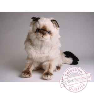 Peluche assise chat colour point ou himalaya 40 cm Piutre -2360
