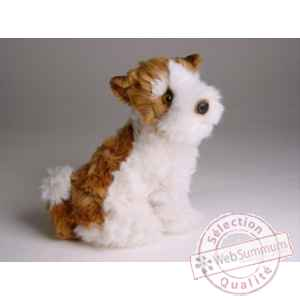 Peluche assise fox terrier 28 cm Piutre -1300