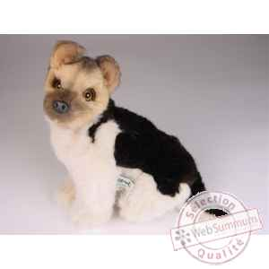Peluche assise berger allemand 28 cm Piutre -1311