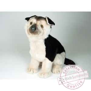 Peluche assise berger allemand 40 cm Piutre -2225