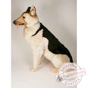 Peluche assise golden retriever 28 cm Piutre -1312