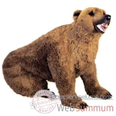 Peluche assise ours grizzly 200 cm Piutre -2100