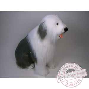 Peluche assise berger old english 100 cm Piutre -3291