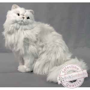 Peluche assise chat persan 45 cm Piutre -311