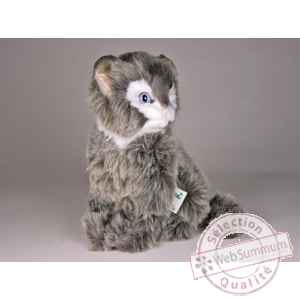 Peluche assise chat soriano 24 cm Piutre -321