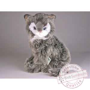 Peluche assise chat sorani cat 30 cm Piutre -319