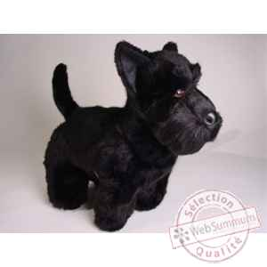 Peluche debout scottish terrier noir 45 cm Piutre -260