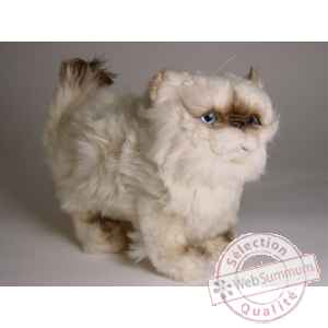 Peluche debout chat colour point ou himalaya 30 cm Piutre -2432