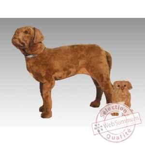 peluche debout dogue de bordeaux 90 cm piutre dans chiens sur collection peluche. Black Bedroom Furniture Sets. Home Design Ideas