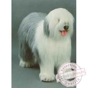 Peluche debout old english sheepdog 100 cm Piutre -3290