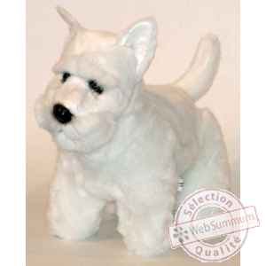 Peluche scottish terrier blanc 45 cm Piutre -261
