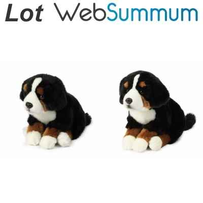 Promotion lot 2 peluches chien Bouvier Bernois Anna Club Plush -LWS-247