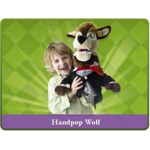 Marionnette peluche mechant loup sprockjesboom e01201