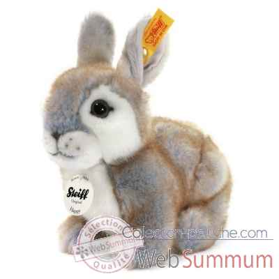 Lapin happy, gris chine STEIFF -80036