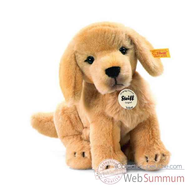 Peluche steiff golden retriever chiot yellow, blond dore -270123