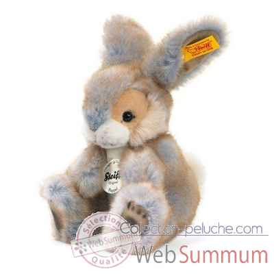 Peluche steiff lapin poppel, gris chine -080098