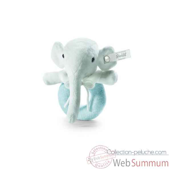 Peluche steiff selection elephant anneau de prehension, bleu -239397